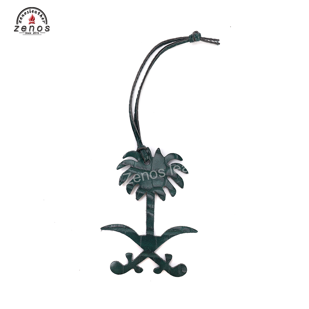Zenos Customize KSA Logo Color Bag Accessories Crocodile Emboss Women Bag Accessories Key Chains Fashion Charm Key Chain 50pcs