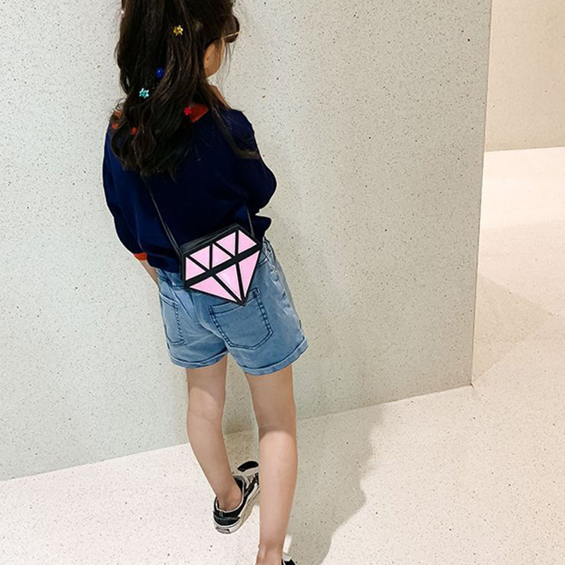 2019 Fashion Children\'s Bag Cute Turtle Shaped Shoulder Bag Novel Funny Diamond Shaped Crossbody Bag