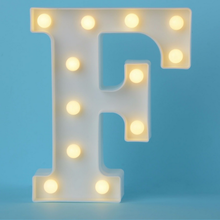 White Plastic Letter LED Night Light Marquee Sign Alphabet Lights Lamp Home Club Outdoor Indoor Party Wedding Home Decoration new wedding event decoration gifts white wooden letter led marquee sign alphabet light indoor wall light up night light