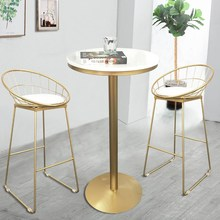 Bar Stool Chairs Pub-Accessories Wrought-Iron-Bar Nordic Modern Leisure Simple