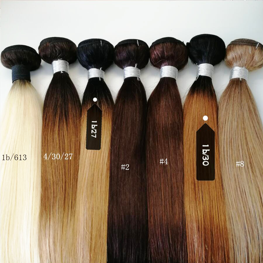 Image 5 - Bobbi Collection 1 Bundle Color 2 Dark Brown Indian Hair Weave Bundles Color 4 Straight Human Hair Weft Non Remy Hair ExtensionHair Weaves   -