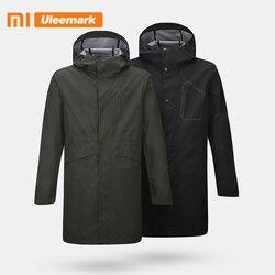 Мужской тренчкот с капюшоном Xiaomi, длинный модный тренчкот, водонепроницаемая ветрозащитная куртка, Uleemark