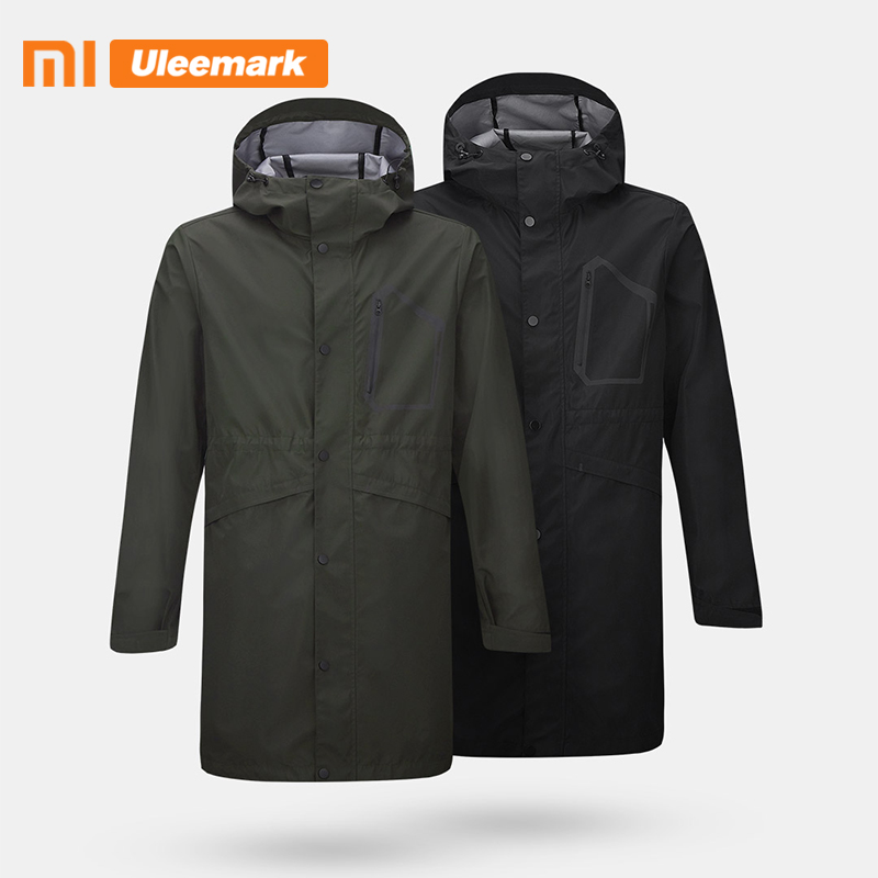 Xiaomi Uleemark  Outdoor Hooded Warm Long Coats  Men's Waterproof Windproof  Hooded Rain Jacket