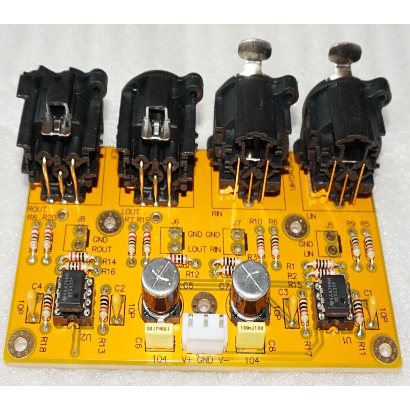 KYYSLB Op Amp Amplifier Balance Preamp Unbalanced Balance Balance To Unbalance RCA To XLR Board Kit Finished Board NE5532