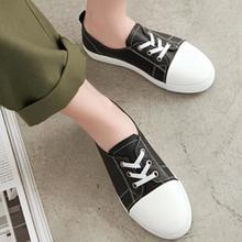 2019  new women  flats shoes casual flat shoe woman round toe  lace up plus size WXX041