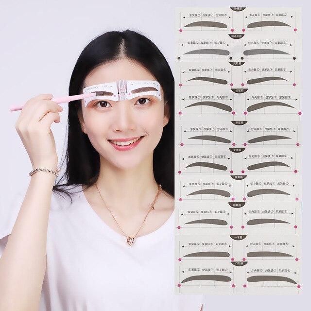 eyebrow tracing card eyebrow makeup tool eyebrow card aid tool thrush