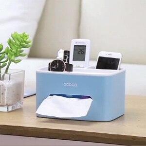 Image 4 - LEDFRE Дом Офис многофункциональный пульт дистанционного управления коробка для хранения косметики присоска коробка для салфеток LF89001