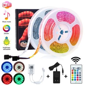 Smart WiFi LED Strip Lights Music Sync 10M 300Led Waterproof RGB 5050 LED Light Kit Work with Alexa Google Echo Home App Control