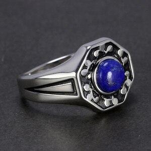 Image 3 - De Originelen 925 Sterling Silver Vampire Ringen Met Natuurlijke Lapis Lazuli Steen Damon Stefan Heren Punk Sieraden