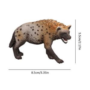 Image 5 - Figura en PVC de Animal salvaje de 3,4 pulgadas, modelo de Hiena, juguete preescolar para niños, 14735
