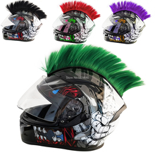 Colorful Helmet Decorations Hair Punk Colorful Cockscomb Motocross Full Face Off Road Helmet Decoration Paste Car Accessories