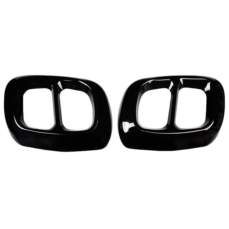 2Pcs מבריק שחור נירוסטה עבור מרצדס בנץ Gla Class X156 רכב פליטה פלט זנב כיסוי Trim עבור אינפיניטי q30 Qx30