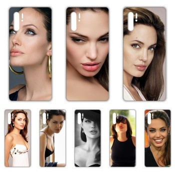 Angelina Jolie Maleficent beauty Transparent Phone Case For HUAWEI nove 5t p 8 9 10 p20 P30 p40 P pro Smart 2017 2019 Z lite image