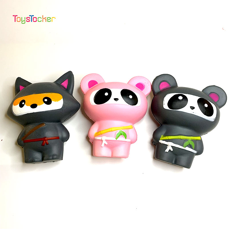 Colourful Panda Ninja Modeling Squishy Slow Rising Soft Squeeze Toy Phone Strap Scented Relieve Stress Funny Kid Xmas Gift