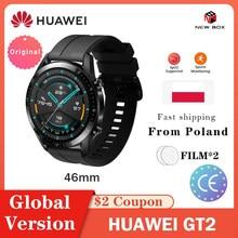 HUAWEI-reloj inteligente GT 2 GT2/GT2e, dispositivo resistente al agua de 46mm, con GPS, Bluetooth, control del ritmo cardíaco, oxígeno en sangre, 14 días de vida