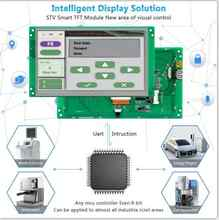8.0 Inch Sunlight Readable Outdoor HMI LCD Module With Ccontroller Board +Program +Serial Interface