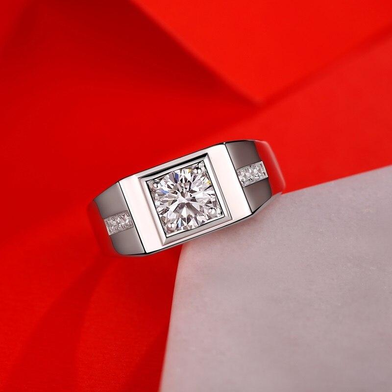 Yulaili bagues de mode pour hommes 1 Carat géométrique carré stéréoeffet anneaux de mariage bague de doigt mâle bijoux