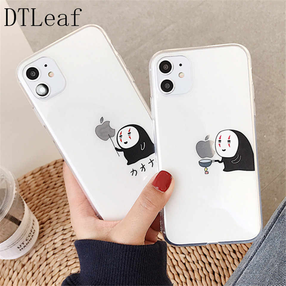 Dtleaf Spirited Away No Face Man Phone Case For Iphone 11 Pro X Xs Max Xr 8 7 Plus Cute Cartoon Soft Silicon Clear Cover Fitted Cases Aliexpress