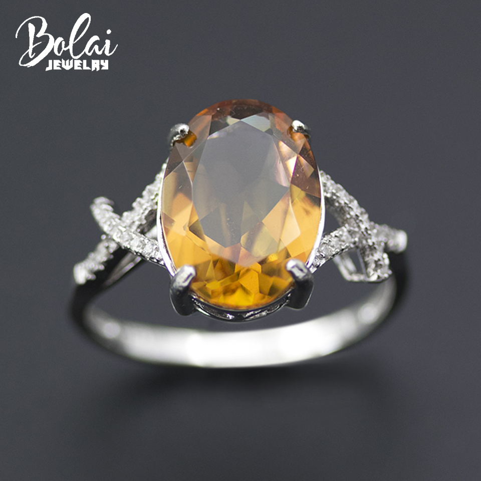 Bolai Turkish diaspore ring 925 sterling silver oval 14*10mm created gemstone color change zultanit fine jewelry rings for women