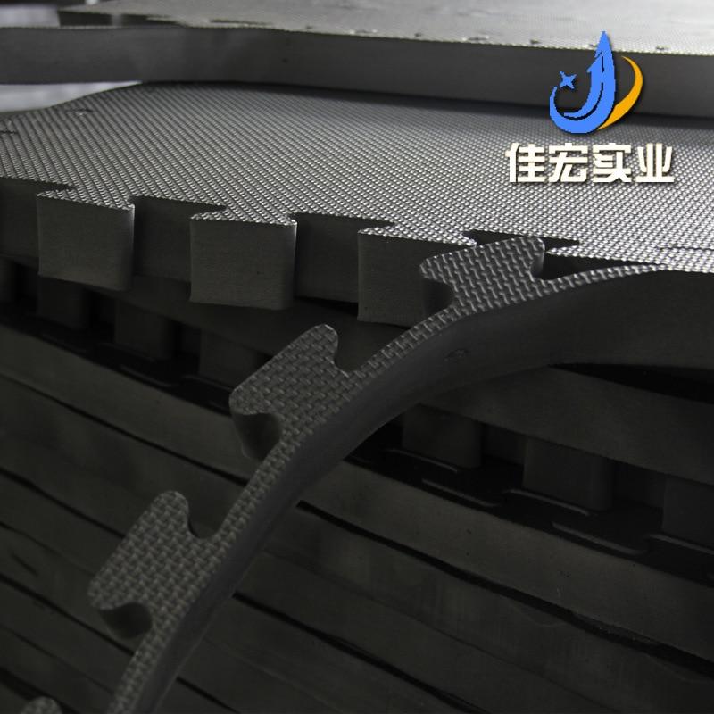 Noir et blanc avec motif croix motif Taekwondo tapis Sub-4 Cm EVA mousse tapis de sol 100*100 Judo Fitness Joint Pad