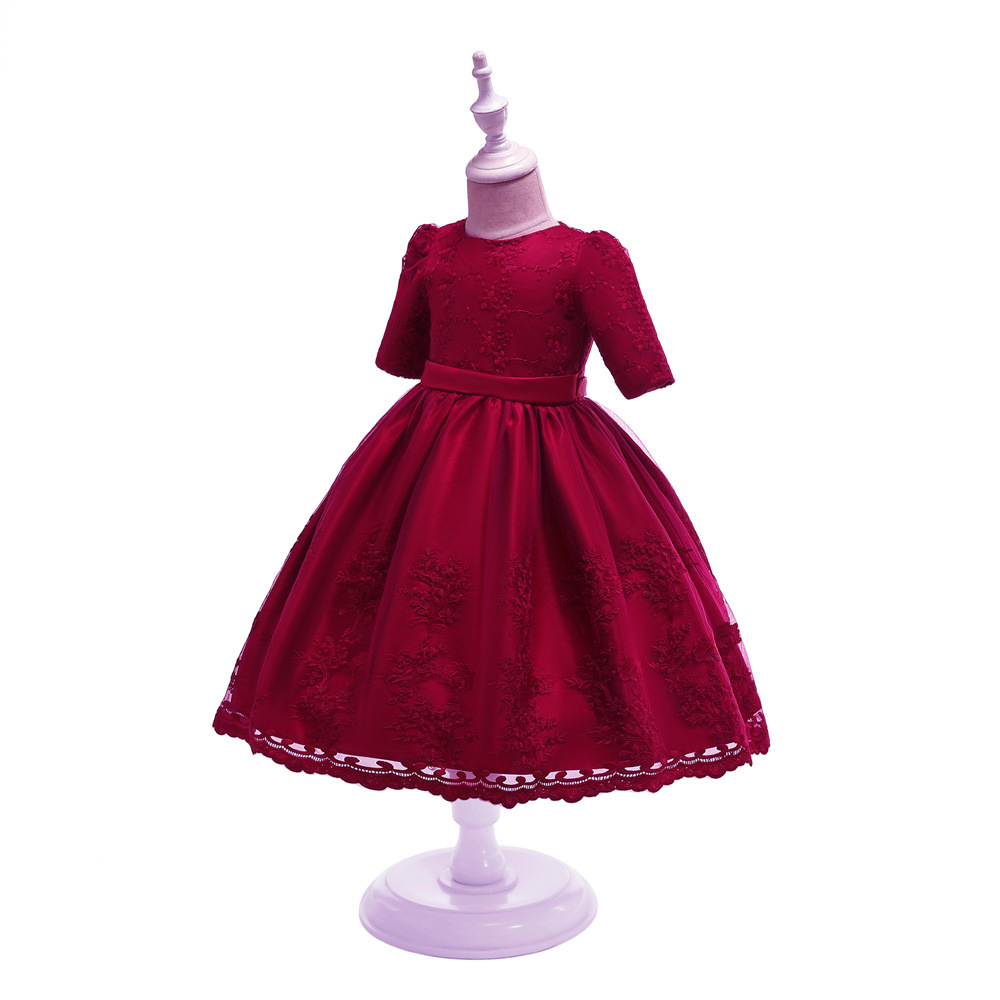 EBay Hot Selling 2019 New Style Half-sleeve Shirt Babies' Dress Lace Princess Dress Baby A Year Of Age Photography Clothing