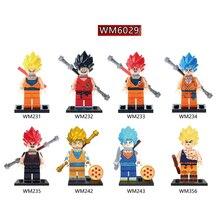 WM6029 Single sale Building Blocks Dragon Ball Orange Dress Yellow Hair Son Goku Model Education Comic s Gift Toys For Children