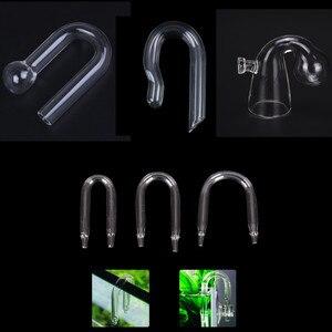 1pc Durable U Shaped Glass Tube Aquarium CO2 Diffuser Check Valve Fish Tank Tube
