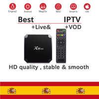 IPTV España espa 1 año m3u Abonnement local canales en español para Linux Htv Android caja de TV Android Box Enigma2 Smart TV PC 5
