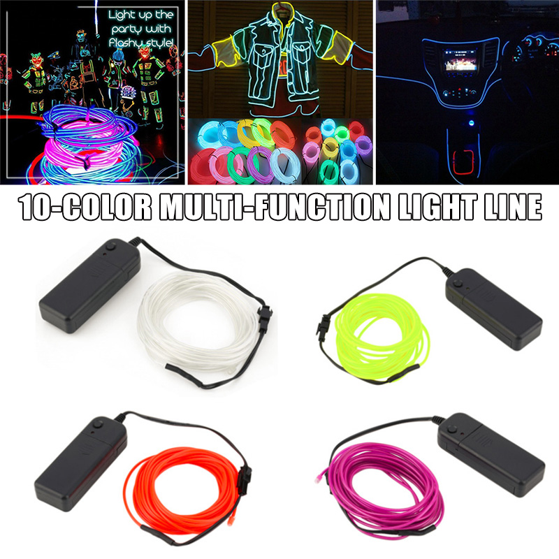RGB Color Light Up LED Line Figure Flexible For Toy Halloween Party Car Decoration TN99