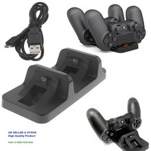BEESCLOVER Dual USB Charging Dock Station Stand per la PlayStation 4 Controller di Gioco Maniglia Caricatore Staffa per PS4/PS4 Sottile d30(China)