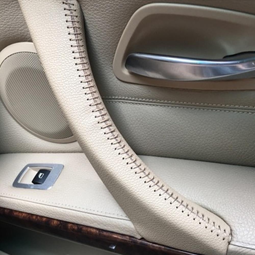 Noir Fibre de Carbone Style BMW 3 SÉRIE E90//E91 steering wheel trims 6 Bouton