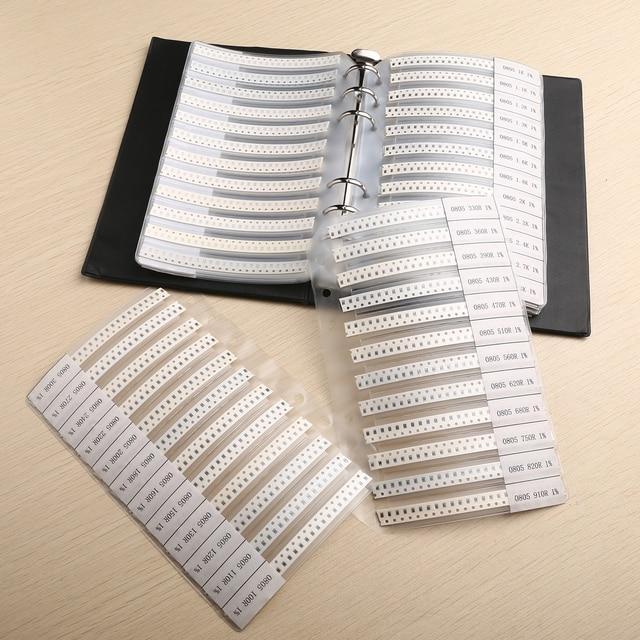 Mayitr 4250 stücke 0ohm-10 M 170 Werte 0805 1% SMD SMT Chip Widerstände Sortiment Kit Probe Buch