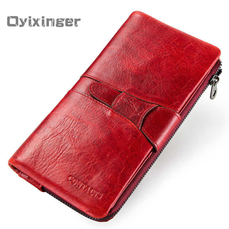 Women Wallets Fashion Two Fold Buckle Hasp Cow Leather Purse Genuine Leather Front Pocket Woman Wallet Thin Card Holde For Women