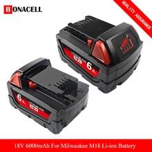 Для Milwaukee M18 9,0/1815 Ач 18 в M18 электроинструменты перезаряжаемая литий-ионная батарея Замена 48-11-1850 48-11-1840 48-11-Z50