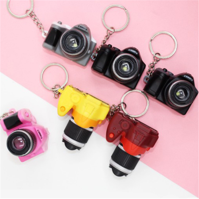 Led Camera Flashing Toys For Kids Digital Camera Keychain Luminous Sound Flash Light Pendant Bag Accessories Children Gifts Toy