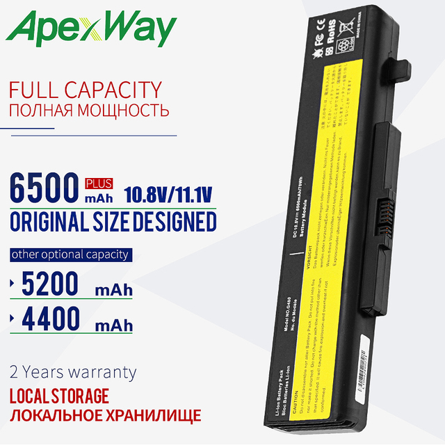 Bateria do portátil Para Lenovo Y480 Y480A Y480P G480 G485 G580 L116Y01 L11O6Y01 L11S6F01 L11L6F01 L11P6R01 L11S6Y01 IdeaPad Y580