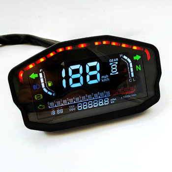 TKOSM For 2,4 Cylinders Motorcycle Universal LED LCD Speedometer Digital Backlight Odometer For BMW Honda Ducati Kawasaki Yamaha