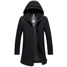 Paragraph Lang Legendary brand 2019 new men winter hooded coat trench overcoat standard conventional wind warm