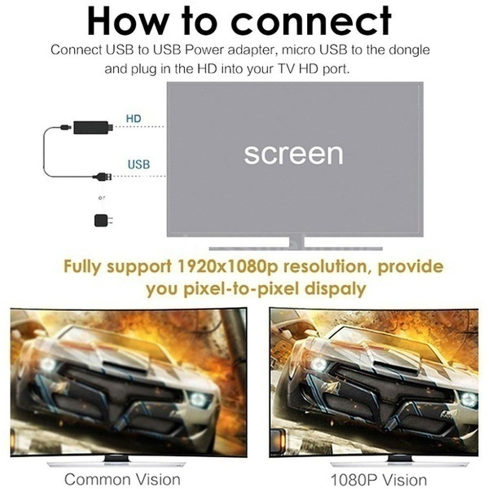 Купить с кэшбэком Wireless Display Dongle HDMI Adapter Portable TV Receiver 2.4G WiFi 1080P Airplay Dongle Mirroring Screen Miracast Support