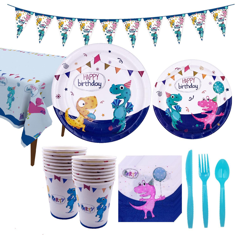 Dinosaur Party Tableware Paper Plate Cup Napkins Boy Happy Birthday Party Decor Kids Jurassic World Party Jungle Safari Birthday