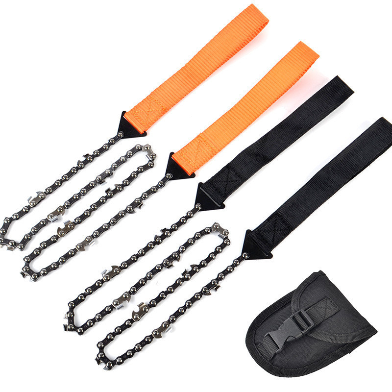 Portable Chain Saw Cutting Machine Handheld Survival Emergency Camping Hiking Outdoor Multifunctional Chainsaw Wood Cutting Tool