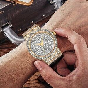 Image 5 - MISSFOX брендовые уникальные часы для мужчин 7 мм Ультра тонкие 30 м водостойкие ледяные круглые дорогие 34 мм тонкие наручные мужские часы 2562