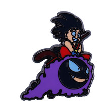 Gastly enamel pin 재미 있은 Dragonball anime 팬 mash up jewelry(China)