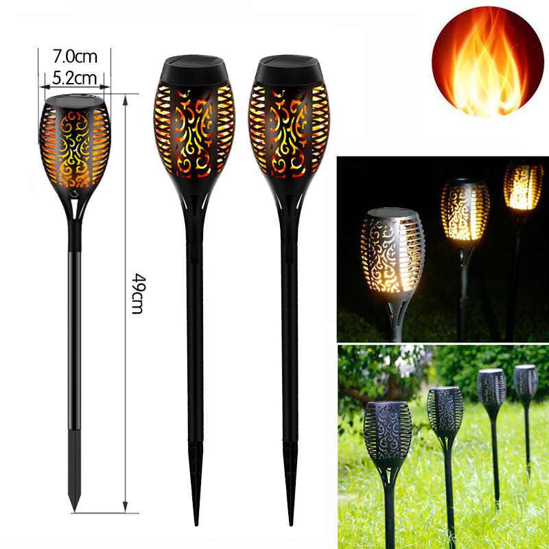 12 Led Solar Flame Lamp Outdoor Zaklamp Lights Veiligheid Waterdichte Licht Flikkeren Lichten Tuin Decoratie Gazon Licht Landschap Lamp