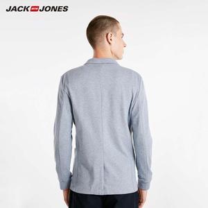 Image 2 - Jackjones básico masculino algodão & linho fino ajuste blazer longo mangas compridas terno jaqueta nova marca masculina 218308505
