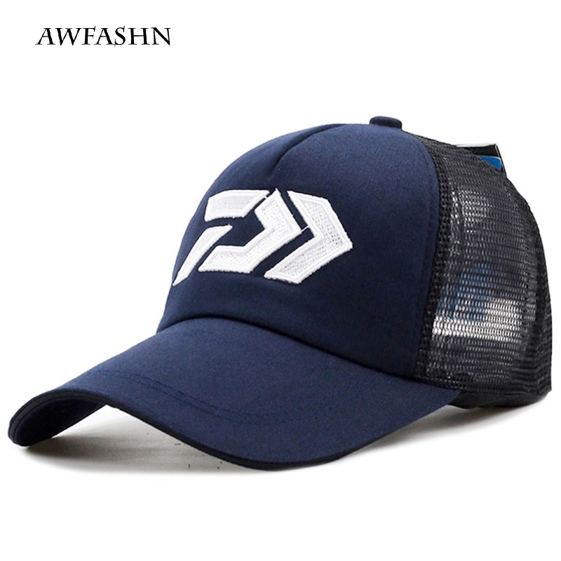 2019 New DAIWA Summer Sun Hat Breathable Mesh Sunshade Breathable Adjustable Sun Hat Big And Male Outdoor Fishing Brand Cap Hat