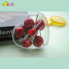 10pcs PS plastic candy box custom printed names transparent wedding favor box(add names for free)