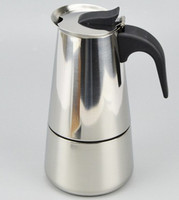 High Quality-Stainless Steel Moka Pot Coffee Pot Moka Pot Stainless Steel Mocha Coffee Pot