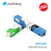 Free Shipping 100PCS/Lot FTTH ESC250D SC APC and SC UPC Single Mode Fiber Optic New Model Optic Fast Connector