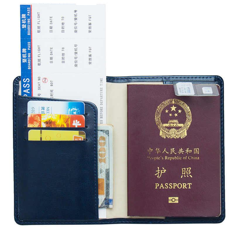 Jiexi Russische Nette Kleine Katze Schmetterling Passport Abdeckung Fall Karte Halter Reise Zubehör Rot und Blau Passport Wallet ZSPC23